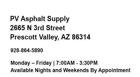 PV Asphalt Supply - Prescott Valley, AZ